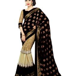 Buy Karishma Kapoor Black Georgette Saree With Blouse georgette-saree online