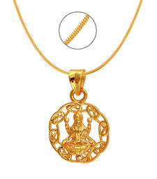 Buy Laxmi Circle Gold Plated Religious God Pendant with Chain for Men & Women Pendant online