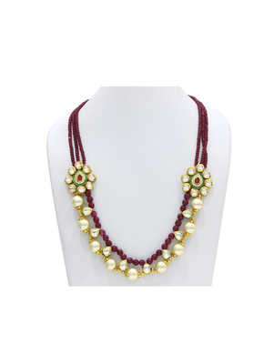 Maroon stone agate necklaces