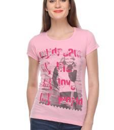 Buy Pink printed Cotton tops top online