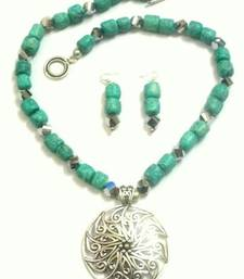 Buy Turquoise turquoise beaded jewellery necklace sets necklace-set online