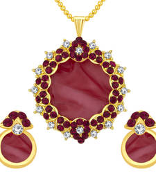Buy Alluring gold plated ad pendant set for women Pendant online