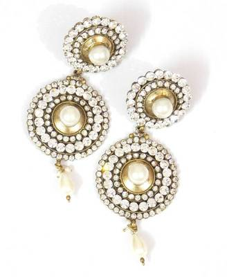 Traditional And Ethnic,Pearl And Zircon Earring- Indian bridal wear collection