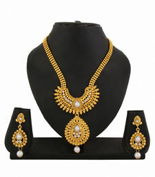 Buy Gold Plated Necklace Earrings Set for women necklace-set online