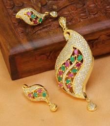 Buy Beautiful Designer  pendant set south-indian-jewellery online