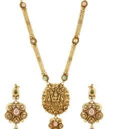 Buy PURE Collection Antique Golden Ethnic Temple Jewellery Rani Haar Set For Women necklace-set online