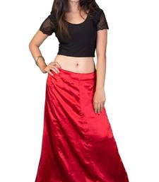 Buy Red satin  petticoat fashion-deal online