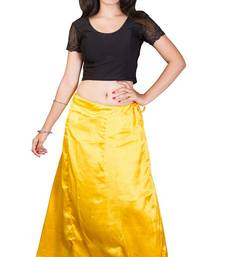 Buy Yellow satin  petticoat fashion-deal online