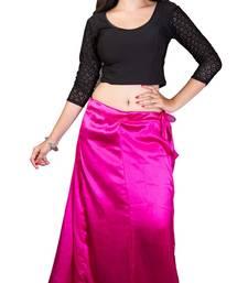 Buy Pink satin  petticoat petticoat online