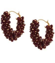 Buy Deep Red Hoop Earrings for Girls hoop online