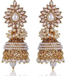 Buy Blooming Pearly Glorious Glamour Jhumka jhumka online