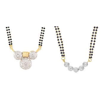 White Gold Plated Mangalsutra
