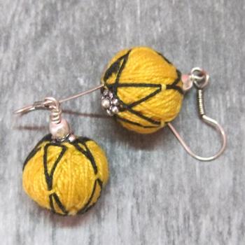 Yellow Thread Danglers