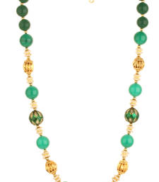 Buy BLISS Collection Green Colour Ethnic Beaded Mala For Women gemstone-necklace online