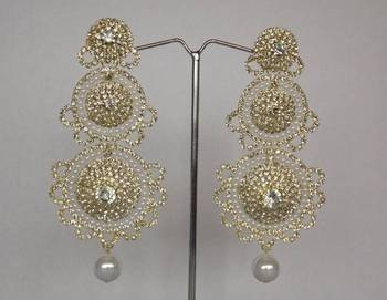 Dazzling Diamonds Studded Danglers