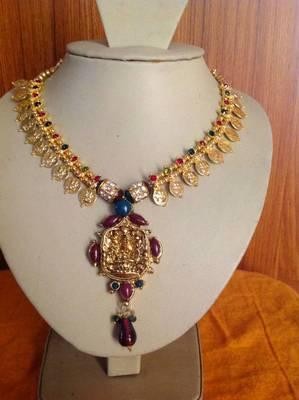 Goddess laxmi necklace set for festive season