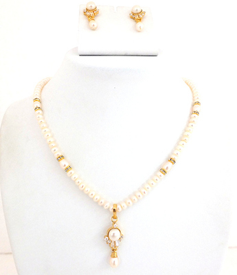 Fresh Pearl Water  Pendent Set