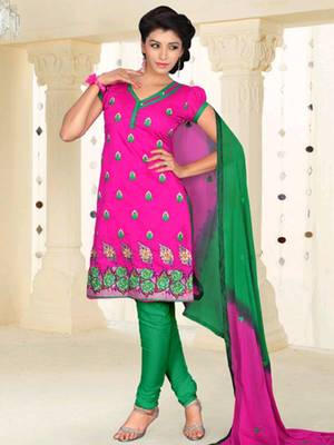 Kalazone Chanderi Silk Designer Embroidery Salwar Kameez -D8098/S10