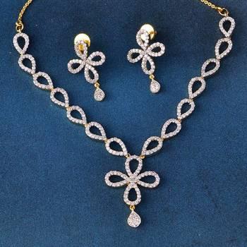 Beautiful Designer AD Diamond Necklace