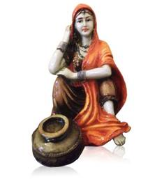 Buy Rajasthani Lady with Matka sculpture online
