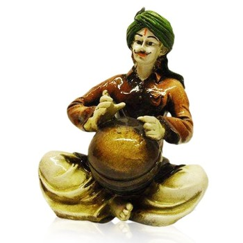 Rajasthani Man Playing Matka