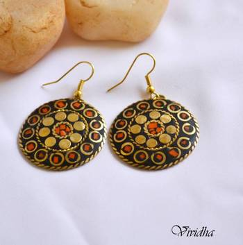 Tibetan Style Multi Colored Earrings