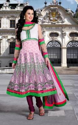 Semi Stitch Anarkali Salwaar Suit