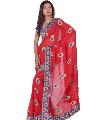 Kalazone Embroidery Chiffon saree: S7956/S3