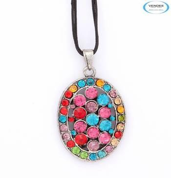 Colorful diamond pendant jewelry