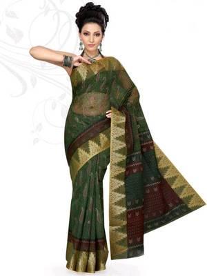 Kalazone Printed Super net Bandhej saree: WS20173