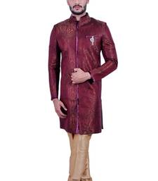 Buy multicolor brocade printed indo western dresses indo-western-dress online