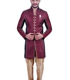 Buy wine brocade printed indo western dresses indo-western-dress online