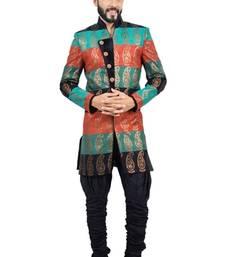 Buy multicolor fancy fabric printed indo western dresses indo-western-dress online