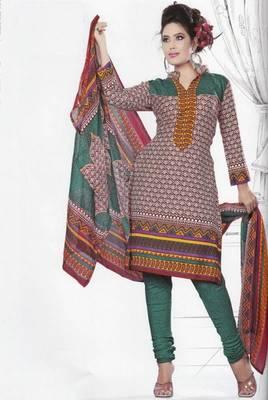 Dress Material Crepe Unstitched Elegant Salwar Kameez Suit D.No 7415