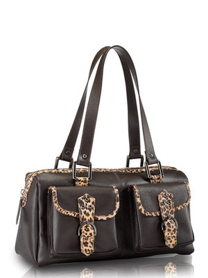 """Phive Rivers-Vida , Genuine Leather Women Shoulder Bag with colour : """"Brown"""""""