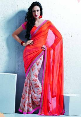 Saree With Unstitched Blouse (15049)