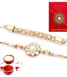 Buy Traditional Jodhpuri Handcrafted Fancy Rakhi Pair Gift bhaiya-bhabhi-rakhi online