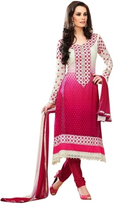 Triveni Beautiful Shaded Embroidered Salwar Kameez 17260