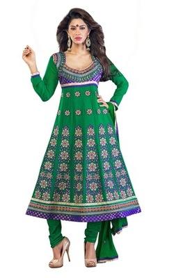 Triveni Fancy floral motif embroidered Anarkali Salwar Kameez 205