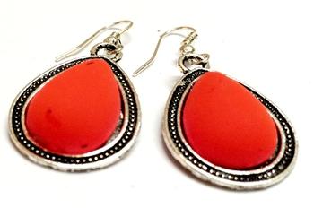 Orange Casual Earrings