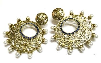 Golden Traditional Earrings1