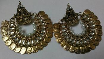 Gold Plated Beaautiful Kundan Ram Leela Earrings