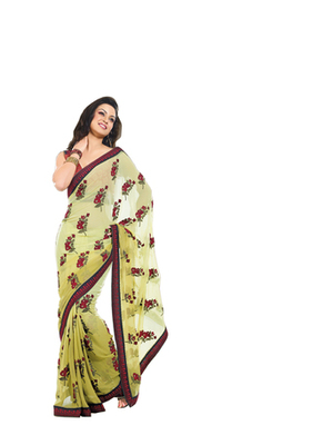 Zoom Fabric  Pure Georgette Saree 702