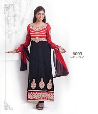 LycheeFashions Semi Stitched  Long  Salwar Kameez