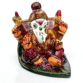 Handpainted Enamelled Metal Ganapati_11