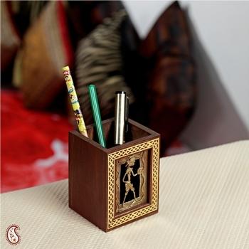Attractive Tribal motif Pen holder