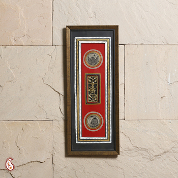 Captivating wooden wall hanging with Dhokra Work