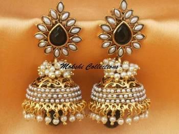 Beautiful Black Aashiqui2 Earrings