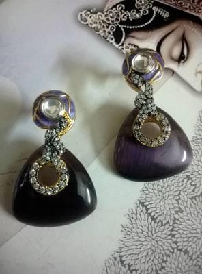 beautiful glass earring