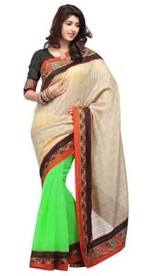 Triveni Traditional Border Office Wear Chiffon Saree TSXRI1706B